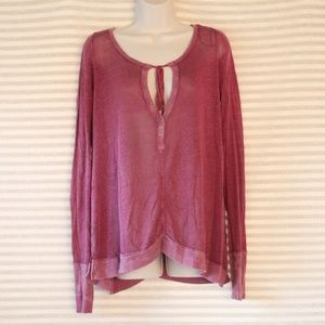 We The Free People Purple Long Sleeve Blouse Small